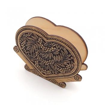 Салфетница в форме сердца Рябина