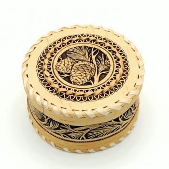 Шкатулка круглая Шишка