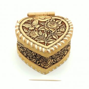 Шкатулка сердце шарнирная