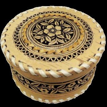 Шкатулка круглая  Шиповник